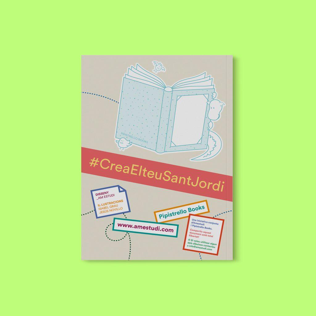 Contraportada del llibret #CreaElteuSantJordi
